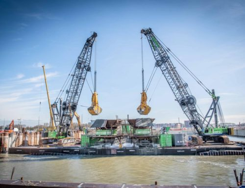 Construction new sea lock – the Netherlands